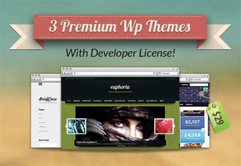 wordpress theme free license 3 premium wordpress themes with developer license for just