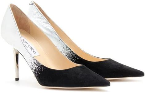 Guess Charlote Silverblack jimmy choo agnes ombr 233 leather and suede pumps in silver