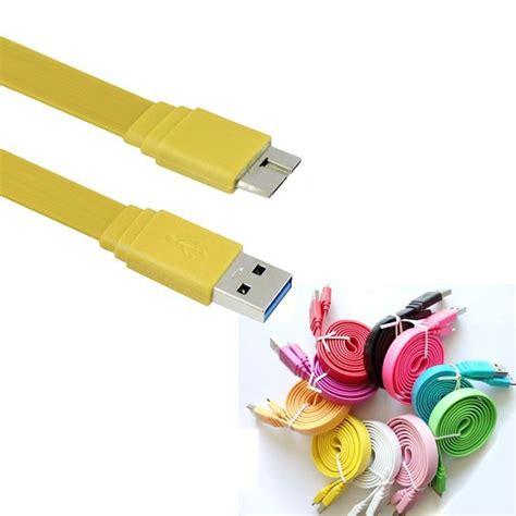 Taffware Flat Noodle Charging Sync Data Micro Usb Cable 66nh1q Yellow taffware kabel data usb 3 0 ke micro usb3 0 flat yellow