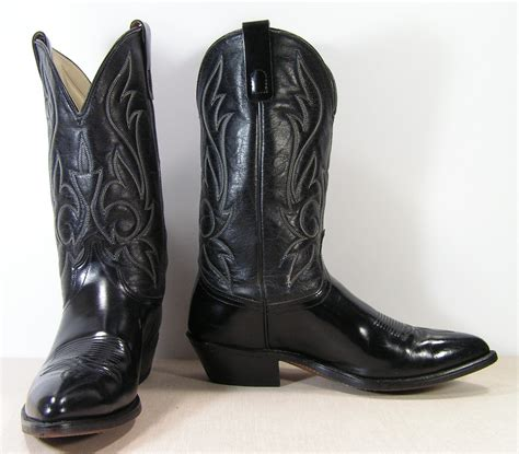 wide mens cowboy boots black cowboy boots mens 9 5 ee wide western vintage leather