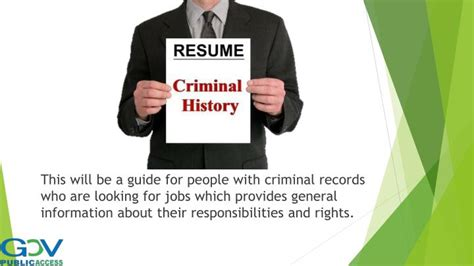 I 485 With Criminal Record Ppt Fairness For With Criminal Records In Employment Powerpoint Presentation
