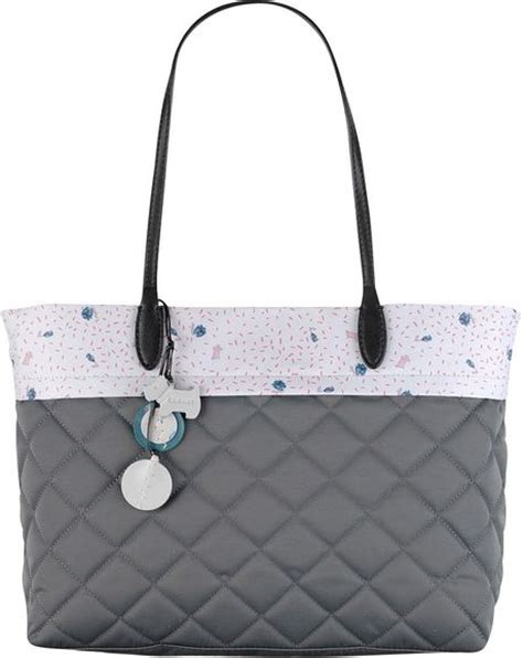 radley ditsy lining quilted tote bag in gray grey lyst