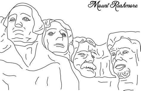 coloring page for mount rushmore free coloring pages of mt rushmore