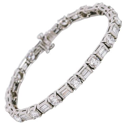 platinum tennis bracelet at 1stdibs