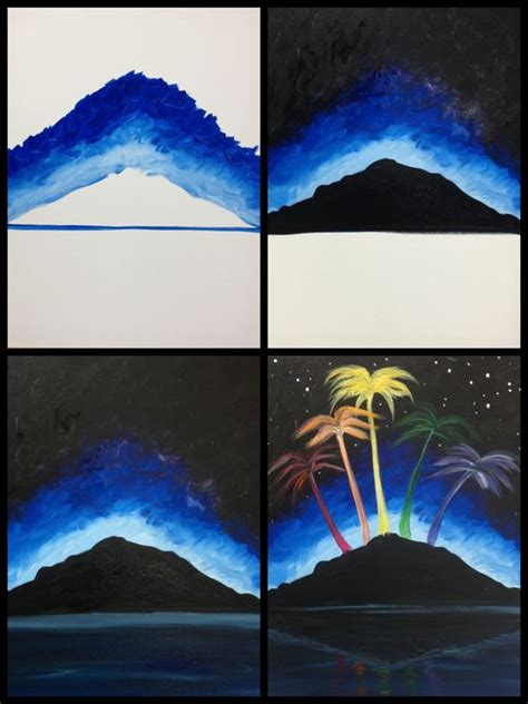 paint with a twist fort lauderdale twists islands and trees on