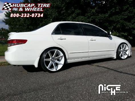 honda accord niche verona m151 wheels gloss white & machined