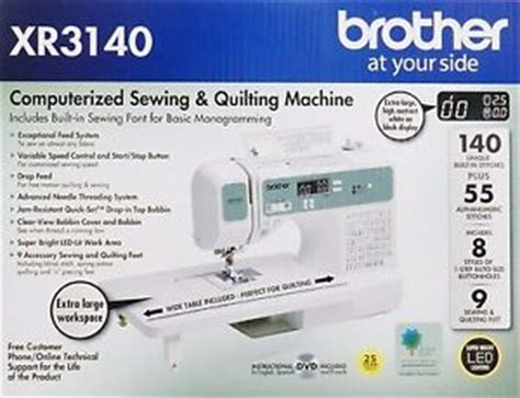 brother xr3140 140 stitch sewing & quilting machine+table