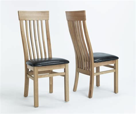 oak dining room chairs compton solid oak furniture set of four leather seat