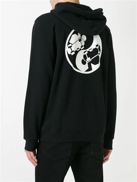 Hoodie Stussy Second lyst stussy ying yang hoodie in black for