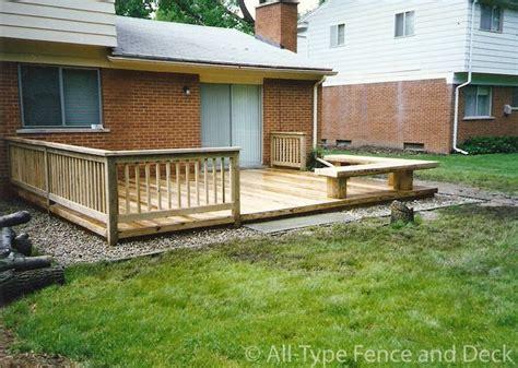 deck möbel layout deck bench deck building multi level deck