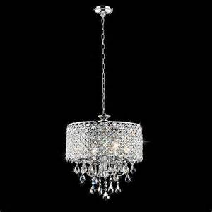Small Chandeliers Lowes Chrome Finish 4 Light Round Chandelier Contemporary