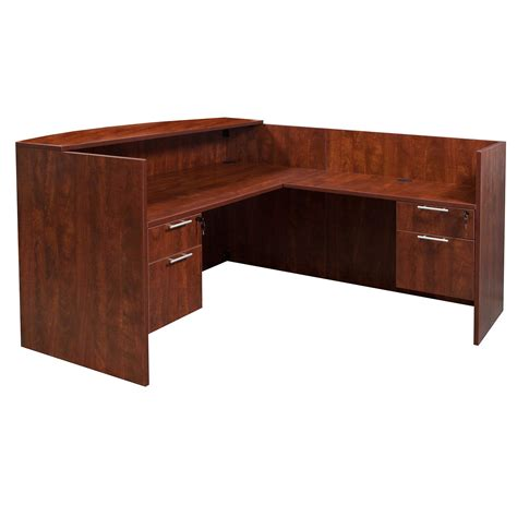 Laminate Reception Desk Everyday 36 215 72 24 215 42 Laminate L Shape Reception Desk Cherry National Office Interiors And