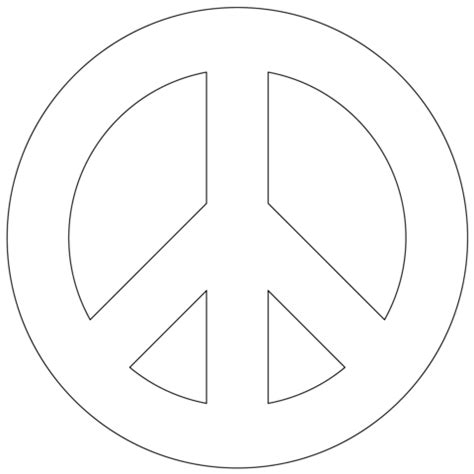 Peace Sign Coloring Sheets Printable Coloring Pages Peace Sign Template