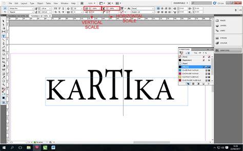 fungsi layout pada bidang grafis memodifikasi karakter teks pada indesign kelas desain