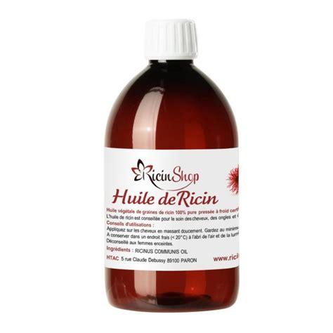 huile de ricin bio peau cheveux ongles et cils ricin