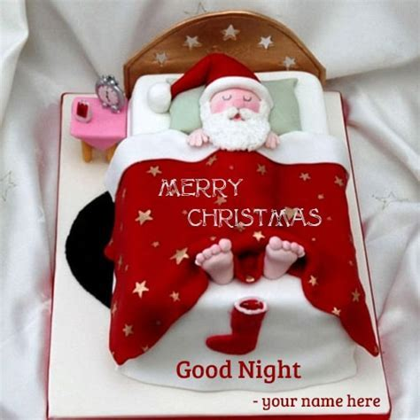 santa claus sleeping bag good night wishes name editing