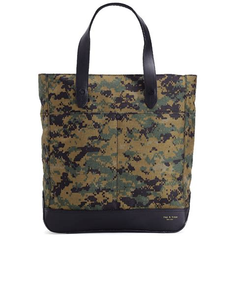 rugged tote rag bone rugged tote in green for camo lyst