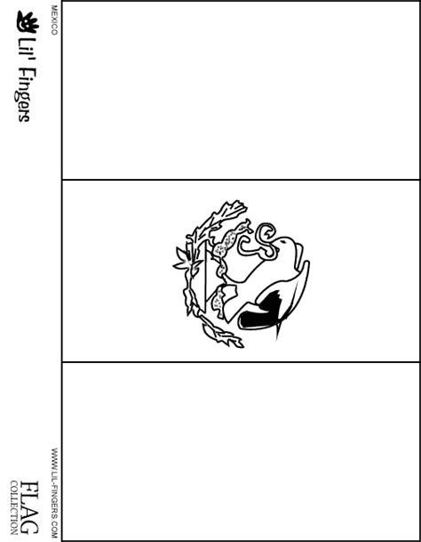 mexico flag coloring page mexico flag outline