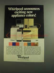 new appliance colors 1984 whirlpool appliances ad new appliance colors