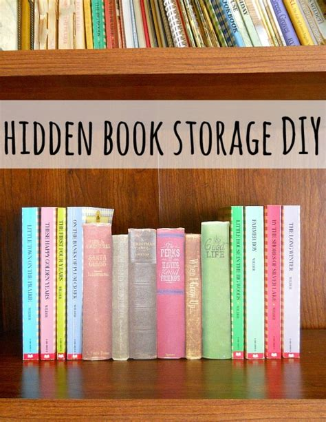 diy hidden storage diy hidden storage by running with a glue gun project