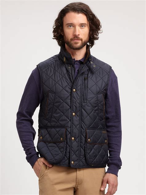 Polo Quilted Vest by Polo Ralph Epson Quilted Vest In Blue For Lyst
