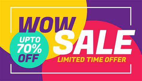 banner layout sle advertising sale banner design with colorful background
