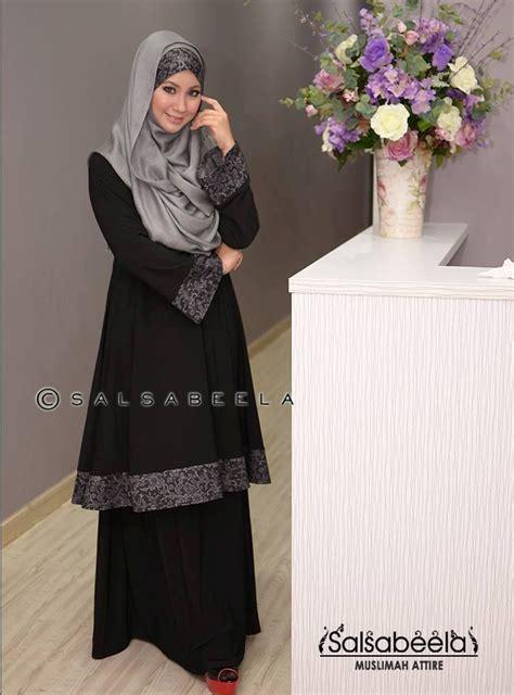 Baju Kurung Moden Muslimah muslimah black floral baju kurung pahang fashion islamic black baju kurung and