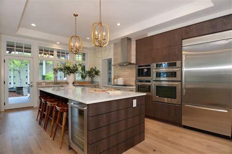 island wine cooler contemporary kitchen pne prize home