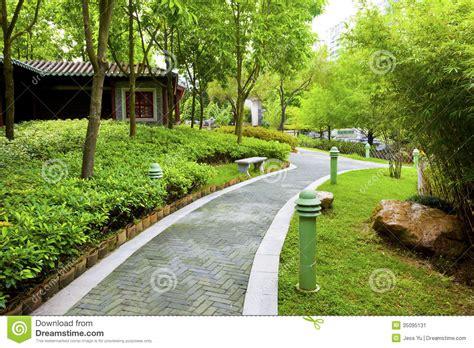 backyard walking paths chinese garden with walking path stock image image 35095131