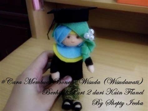 Boneka Wisuda Dari Flanel cara membuat boneka wisuda wisudawati berhijab dari
