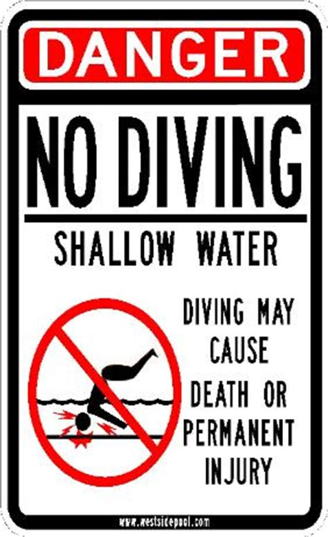 Kaos Warning At Any Time High Quality westside pool custom high quality no diving sign