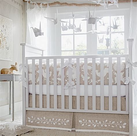 Gender Neutral Nursery Decor High Vs Low Otomi Inspired Crib Bedding