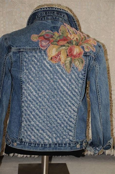 Jaket Flores Is Awesome upcycled denim jacket denim vintage