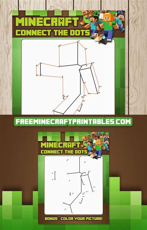 free printable dot to dot minecraft free minecraft printables free printable minecraft dot to