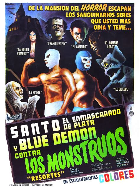 film blue mexico santo and blue demon vs the monsters mexico 1969