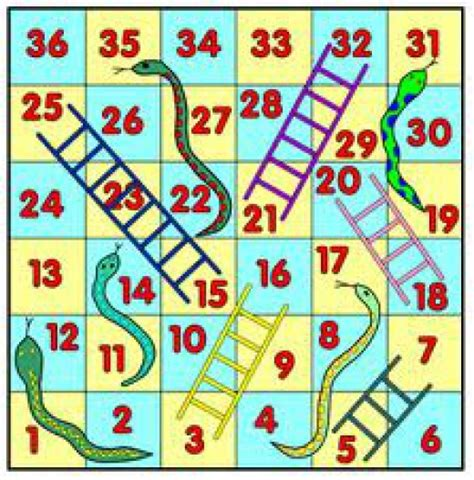 printable board games for 4 year olds snakes and ladders clipart best
