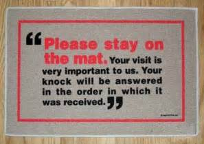 Funny Welcome Mats by Creatively Funny Doormats 24 Mats