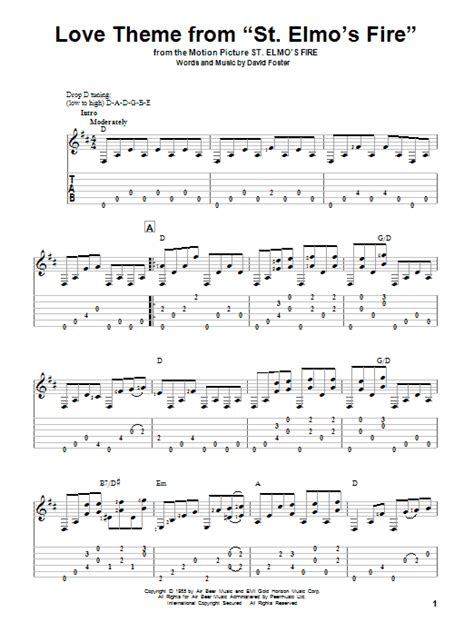 mohabbatein love themes guitar tabs love theme from st elmo s fire guitar tab by david foster