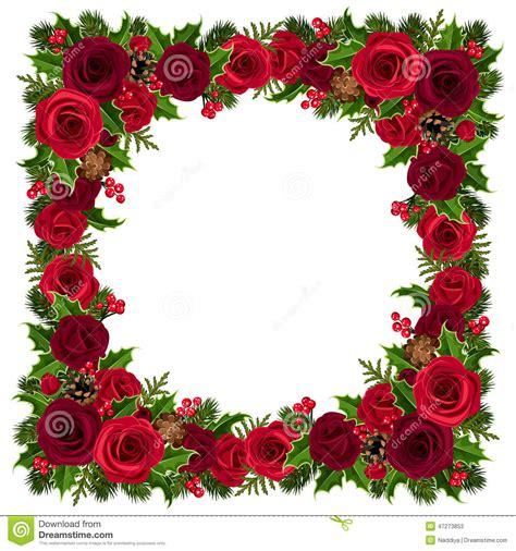 cadre de no 235 l avec les roses le houx les branches de