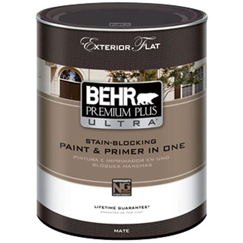 flat exterior paint behr premium plus ultra 1 qt medium base flat exterior