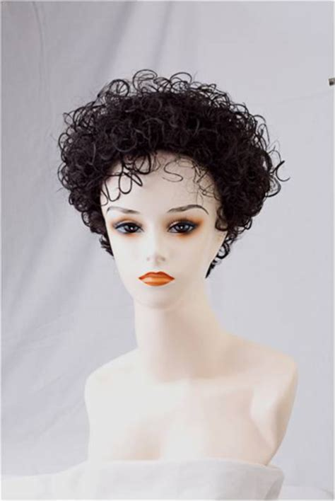 tapered curly afro wig tapered curly wig petite size classic style tapered nape