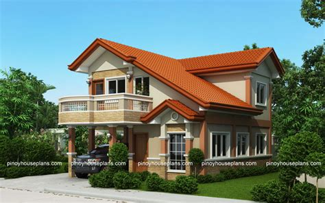 House Plans With Balcony by Php 2015021 Two Storey House Plan With Balcony Pinoy