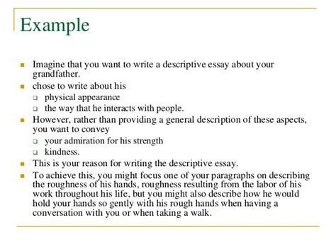 How To Write Descriptive Essay About A Person by How To Write A Descriptive Essay