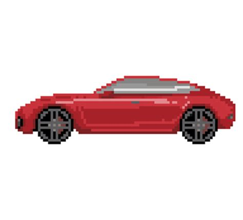 pixel car transparent 2d car sprite opengameart org