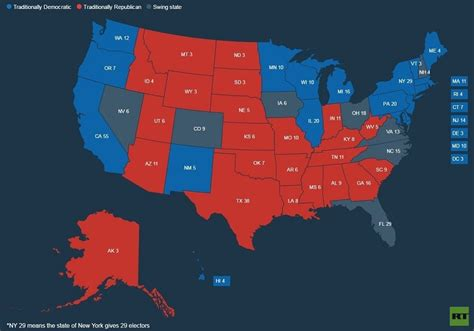 how many swing states are there game of polls trump leads in some battleground states