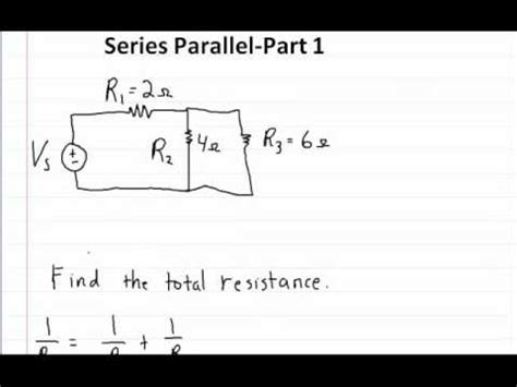 resistor math problems series and parallel circuits part 1 how to solve for the total resistance
