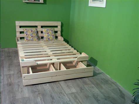 pallet diy platform bed with storage modern storage