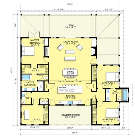 porch floor plans large front porch house plans