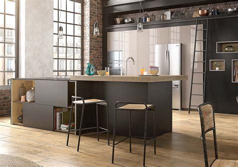 cuisine noir mat et bois formidable deco salon moderne noir et blanc 9 cuisine