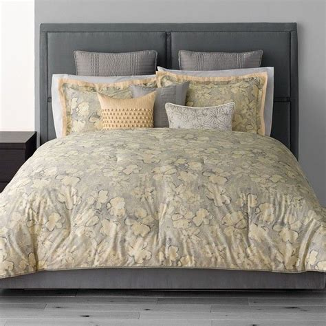 simply vera vera wang etching 3 pc comforter set grey